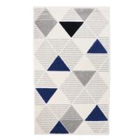 Covor living / dormitor Carpeta Soho 57651-18223, polipropilena frize hand carved, dreptunghiular, crem, 60 x 110 cm