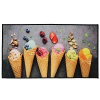 Covoras bucatarie Davo Pro 33038, inghetata, nylon, dreptunghiular, multicolor, 67 x 120 cm