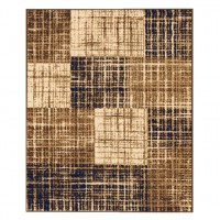 Covor living / dormitor Sintelon Practica 19EMD, polipropilena, dreptunghiular, crem + maro, 160 x 230 cm