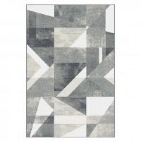 Covor living / dormitor Sintelon Omega 20EMG, polipropilena, dreptunghiular, gri, 80 x 150 cm