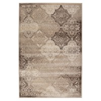 Covor living / dormitor Carpeta Delta 84521-43265, polipropilena heat-set, dreptunghiular, maro, 200 x 300 cm