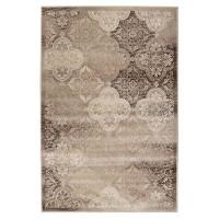 Covor living / dormitor Carpeta Delta 84521-43265, polipropilena heat-set, dreptunghiular, maro, 80 x 150 cm
