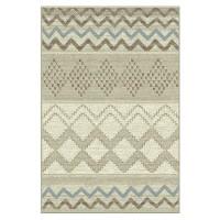 Covor living / dormitor Carpeta Delta 82211-43255, polipropilena heat-set, dreptunghiular, bej + gri, 60 x 110 cm