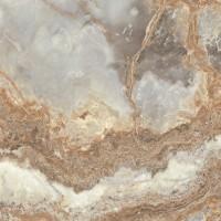Gresie exterior / interior portelanata rectificata Riyadh Jade, lucioasa, maro, imitatie marmura, 60 x 60 cm