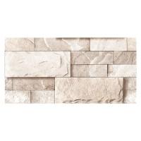 Gresie exterior / interior portelanata 1009, 3D, rectificata, mata, imitatie piatra, bej, 30 x 60 cm