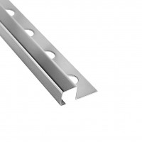 Profil inox pentru gresie si faianta Listelo, argintiu, lucios, 12 x 12 mm, 2.6 m