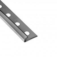 Profil inox de colt exterior pentru gresie si faianta, argintiu, 10 mm, 2.6 m
