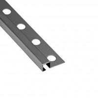 Profil inox pentru gresie si faianta Listelo, argintiu, mat, 10 x 10 mm, 2.6 m