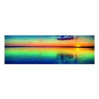 Panou decorativ din sticla, pentru bucatarie / baie Glasfabrik DKEMG16, aspect peisaj, 1400 x 600 x 4 mm