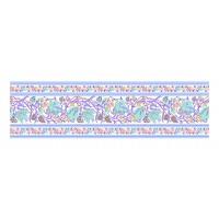 Panou decorativ din sticla, pentru bucatarie / baie Glasfabrik DKEMG21, aspect floral, 1400 x 600 x 4 mm