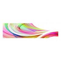 Panou decorativ din sticla, pentru bucatarie / baie Glasfabrik DKEMG26, aspect abstract, 1400 x 600 x 4 mm