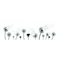 Panou decorativ din sticla, pentru bucatarie / baie Glasfabrik DKEMG27, aspect floral, 1400 x 600 x 4 mm