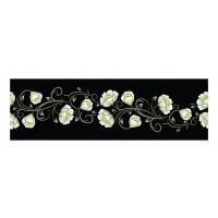 Panou decorativ din sticla, pentru bucatarie / baie Glasfabrik DKEMG28, aspect floral, 1400 x 600 x 4 mm