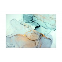 Panou decorativ din sticla, pentru bucatarie / baie Glasfabrik DKEMG42, aspect abstract, 2600 x 600 x 4 mm