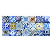 Panou decorativ din sticla, pentru bucatarie / baie Glasfabrik DKEMG47, aspect mozaic, 1400 x 600 x 4 mm