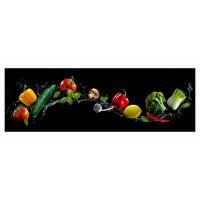 Panou decorativ din sticla, pentru bucatarie / baie, Glasfabrik DKEMG63, aspect multicolor, 1400 x 600 x 4 mm
