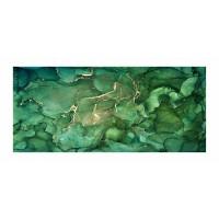 Panou decorativ din sticla, pentru bucatarie / baie, Glasfabrik DKEMG73, aspect abstract, 1400 x 600 x 4 mm