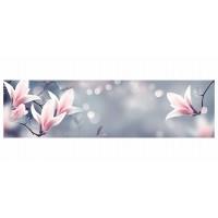 Panou decorativ din sticla, pentru bucatarie / baie, Glasfabrik DKEMG75, aspect floral, 1800 x 600 x 4 mm