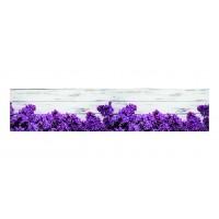 Panou decorativ din sticla, pentru bucatarie / baie, Glasfabrik DKEMG82, aspect floral, 1400 x 600 x 4 mm