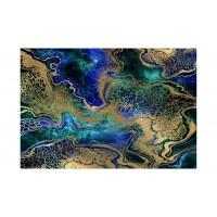 Panou decorativ din sticla, pentru bucatarie / baie, Glasfabrik DKEMG84, aspect abstract, 1800 x 600 x 4 mm