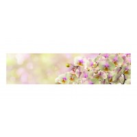 Panou decorativ din sticla, pentru bucatarie / baie, Glasfabrik DKEMG91, aspect floral, 1400 x 600 x 4 mm