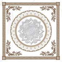 Gresie decor exterior / interior portelanata Calacatta, alba, mata, imitatie marmura, 60 x 60 cm
