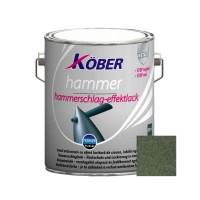 Vopsea alchidica pentru metal Kober Hammer, efect lovitura de ciocan, interior / exterior, verde luminos E81505, 2.5 L