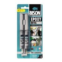 Adeziv bicomponent universal, Bison Epoxy, aspect metalic, 24 ml