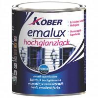 Vopsea alchidica pentru lemn / metal, Kober Emalux, interior / exterior, alb azurat E54100U, 2.5 L