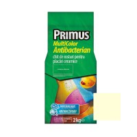 Chit de rosturi gresie si faianta Primus Multicolor Antibacterian B02 almond oil, interior / exterior, 2 kg