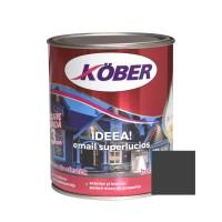 Vopsea alchidica pentru lemn / metal, Kober Ideea, interior / exterior, neagra, 0.75 L