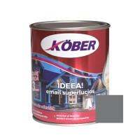 Vopsea alchidica pentru lemn / metal, Kober Ideea, interior / exterior, gri metal, 0.75 L