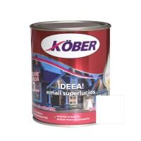 Vopsea alchidica pentru lemn / metal, Kober Ideea, interior / exterior, gri deschis E51810, 0.75 L