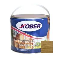 Lac / lazura subtire 2 in 1 pentru lemn, Kober, stejar inchis, interior / exterior, 2.5 L