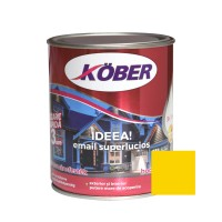 Vopsea alchidica pentru lemn / metal, Kober Ideea, interior / exterior, galben E51444, 0.75 L