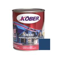Vopsea alchidica pentru lemn / metal, Kober Ideea, interior / exterior, albastru mediu, 0.75 L