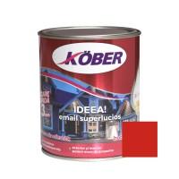 Vopsea alchidica pentru lemn / metal, Kober Ideea, interior / exterior, rosu E51240, 0.75 L