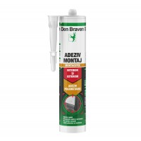 Adeziv montaj universal, interior / exterior, Den Braven Montagefix PU, 280 ml