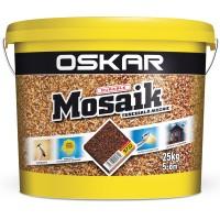 Tencuiala decorativa acrilica, interior / exterior, Oskar Mosaik 9732, mozaicata, 25 kg