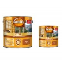 Lac / lazura pentru lemn, Sadolin Extra, mahon, interior / exterior, 2.5 L + 0.75 L