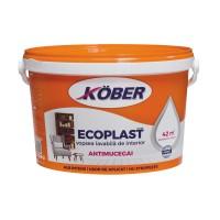Vopsea lavabila interior, Ecoplast, antimucegai, alba, 3 L