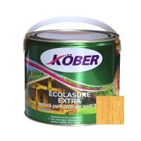 Lac / lazura 3 in 1 pentru lemn, Kober Ecolasure Extra, stejar deschis, pe baza de apa, interior / exterior, 2.5 L