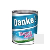 Vopsea alchidica pentru lemn / metal, Danke, exterior, alb, 0.75 L