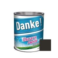 Vopsea alchidica pentru lemn / metal, Danke, exterior, neagra, 0.75 L