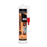 Etansant acrilic Compakt, alb, interior / exterior, 280 ml