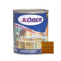 Lac / lazura subtire 2 in 1 pentru lemn, Kober, nuc, interior / exterior, 0.75 L