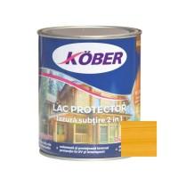 Lac / lazura subtire 2 in 1 pentru lemn, Kober, pin, interior / exterior, 0.75 L
