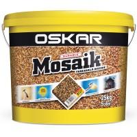 Tencuiala decorativa acrilica, interior / exterior, Oskar Mosaik 9727, mozaicata, 25 kg