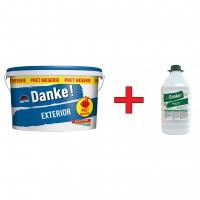 Vopsea lavabila exterior Danke, alba, 15 L + amorsa Danke 4 L