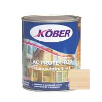 Lac / lazura subtire 2 in 1 pentru lemn, Kober, incolor, interior / exterior, 0.75 L